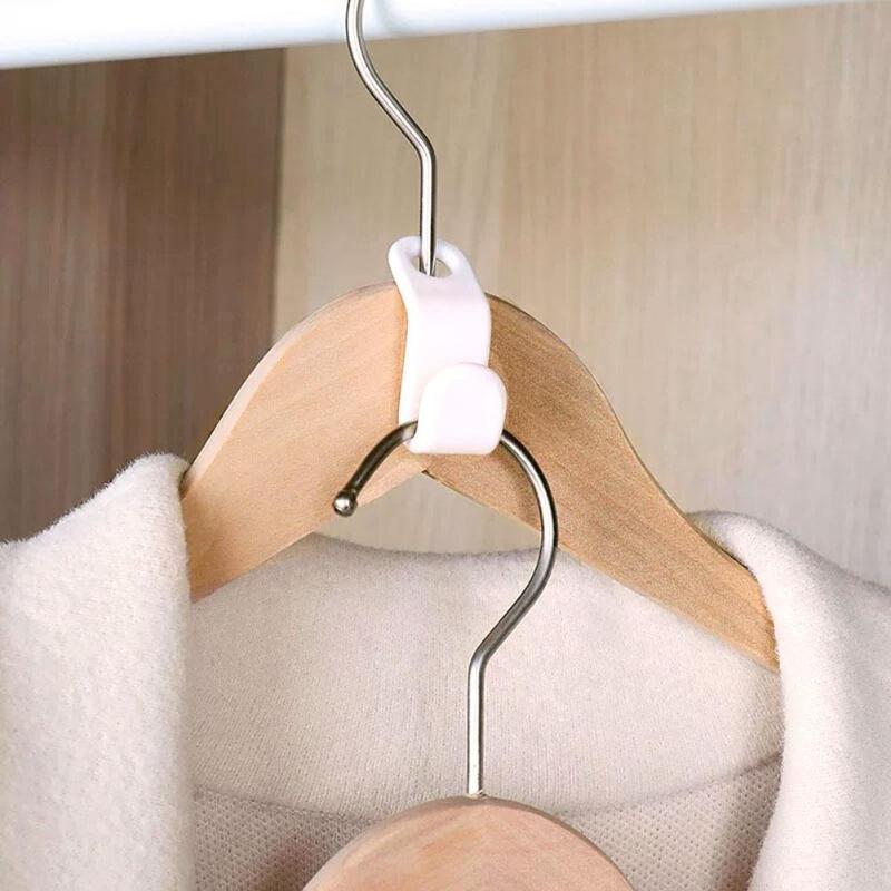 6 Pcs Garderobe Ruimtebesparend Stack Hanger Haak Multifunctionele Kapstok Plastic Closet Stack Hanger Rack Slaapkamer Organizer Harmonieuze Kleuren