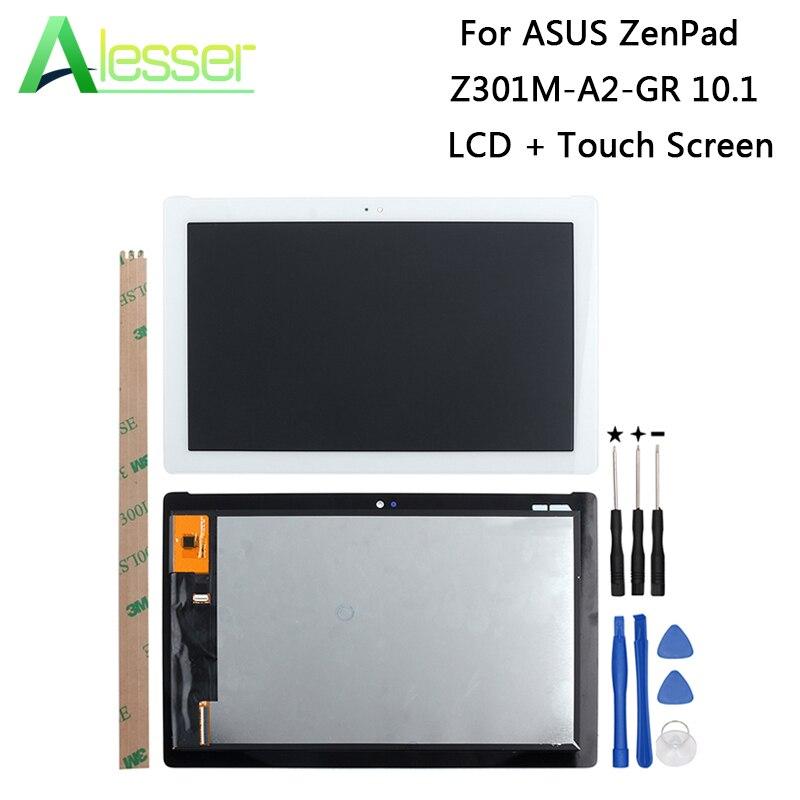 Alesser Asus ZenPad Z301M A2 GR 10.1 Lcd ディスプレイ + タッチスクリーン 1280 × 800 、 Asus ZenPad Z301M A2 GR 電話 + ツール  グループ上の 携帯電話 & 電気通信 からの 携帯電話用液晶ディスプレイ の中 1