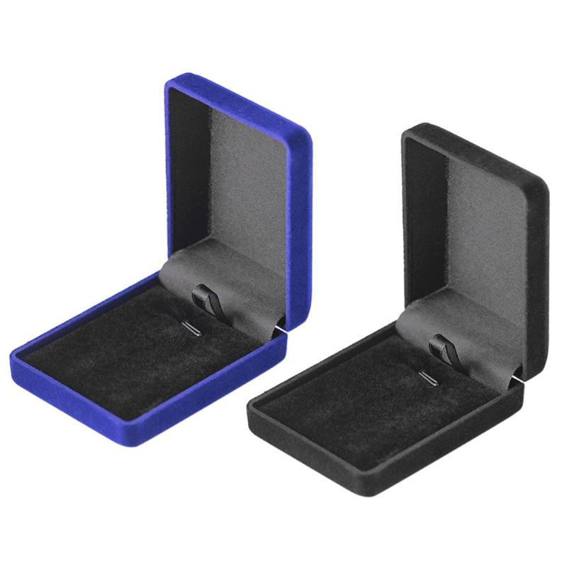 Creative Engagement Black Velvet Ring Box Jewelry Display Storage Foldable Case For Wedding Ring Valentine's <font><b>Day</b></font> Gift Organizer image