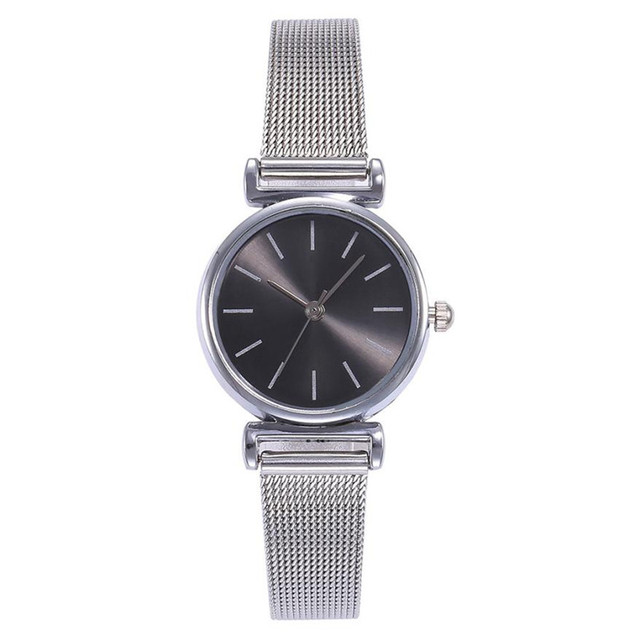 Fashion Luxury Women Small Dial Bracelet Watch Casual Quartz Stainless Steel Mes