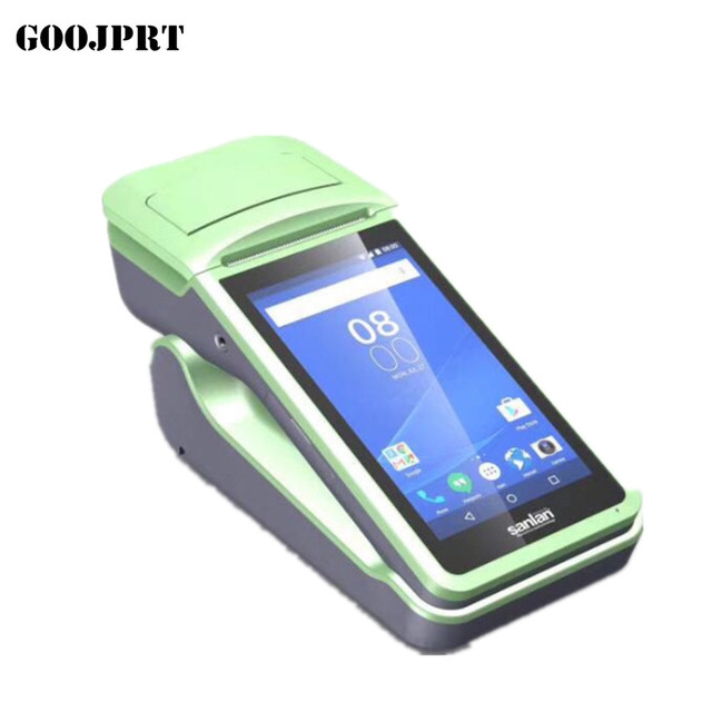 US $110 39 8% OFF|Free SDK Android Mini Mobile Pos Thermal Printer Handheld  POS Terminal Wireless Bluetooth barcode Scanner Wifi Android PDA-in
