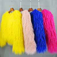 faux fur coat Korean faux wool women coat Faux fur coat Korean solid color wool women jacket