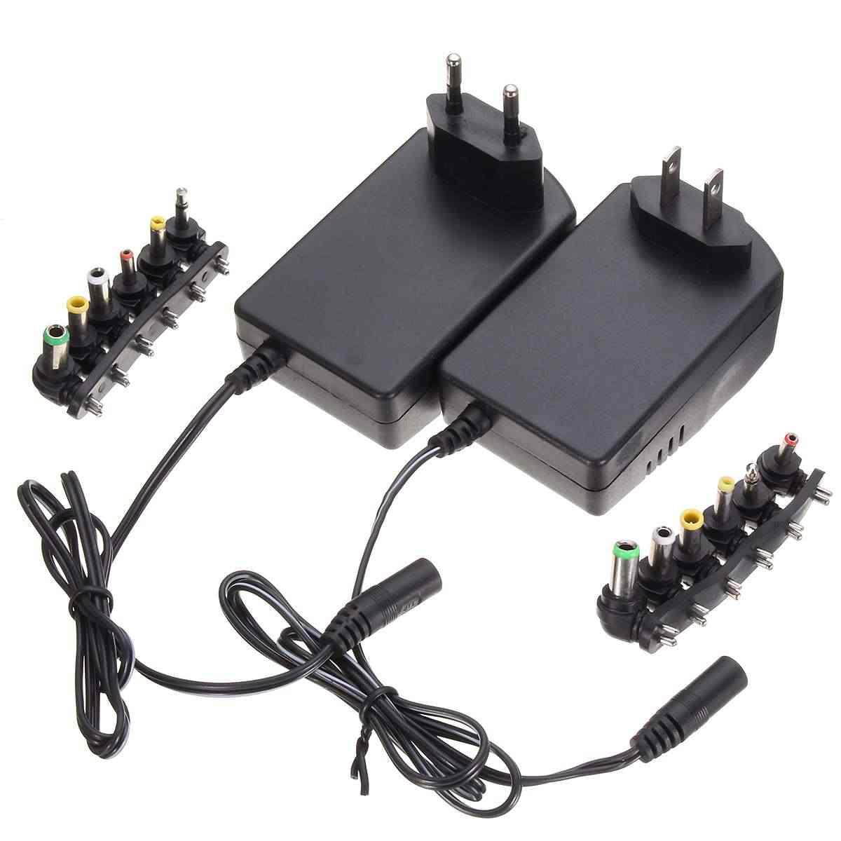 100-240 В переменного тока 50-60 Гц мульти напряжение 3 в 4,5 в 5 в 6 в 9 в 12 В DC адаптер с регулируемой мощностью Универсальное зарядное устройство преобразователь питания 6 штекеров