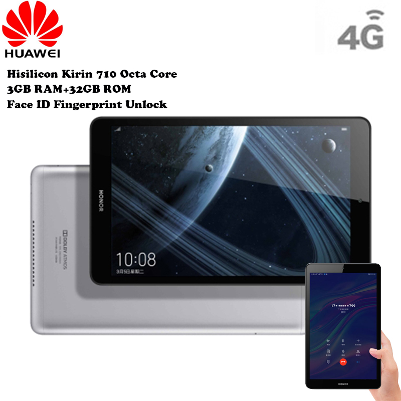 HUAWEI Honor 5 4G Android Tablet Phablet 8'' Android 9 Hisilicon Kirin 710 Octa Core 1.7GHz 3GB 32GB Fingerprint Sensor Face ID