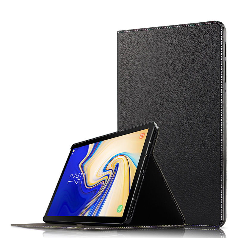 Case Cowhide For Samsung Galaxy Tab S4 10.5 SM T830 SM T835 SM T835C Tablet PC Protective Cover Genuine Leather Protector Cases
