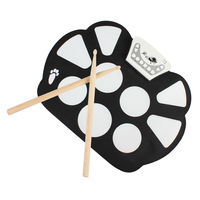 W 758 Roll Up Drum Kit Digital Portable 9 Pad Musical Instrument Electronic Roll Up Drum Kit Up Toys Kids Gifts