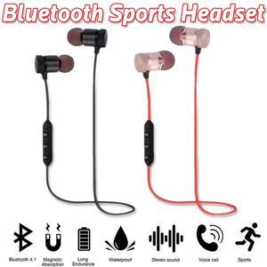Image 3 - ポータブルイヤホンワイヤレス Bluetooth インナーイヤースポーツランニングハイファイステレオ磁気デバイスとマイクハンズフリー通話電話用