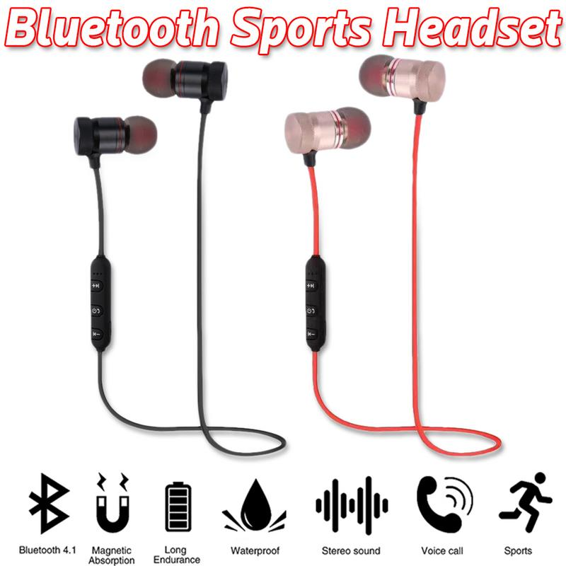 Image 3 - Portable Earphones Wireless Bluetooth Earbuds Sport Running HIFI Stereo Magnetic Devices With Mic Hands free Call For Phones-in Bluetooth Earphones & Headphones from Consumer Electronics