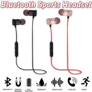 Image 3 - Portable Earphones Wireless Bluetooth Earbuds Sport Running HIFI Stereo Magnetic Devices With Mic Hands free Call For Phones