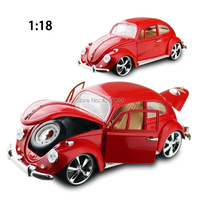 Scale 1/18 Classic Beetle VW Vintage Car Model Diecast Vehicle Toy
