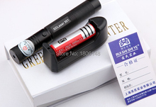 Strong power military Flashlight 100000mw/100w 532nm high green laser pointers burn matches & cigarette+Changer+gift Box