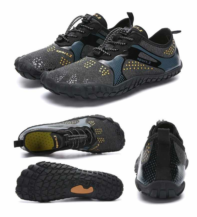 Outdoor men shoes Women Aqua Swimming Footwear Seaside Walking Sapatilhas Cheaper Breathable Quick dry Beach Five fingers Shoes