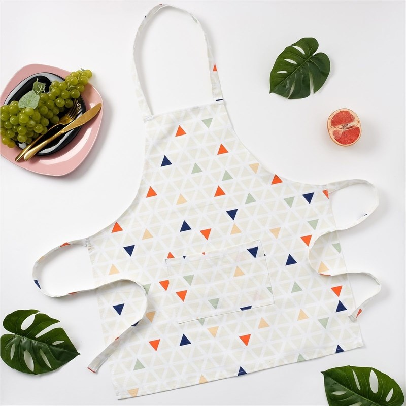 Apron Ethel Triangles, 65 × 60 cm, репс, pl. 130g/m², 100% cotton decorative pillow case ethel triangles 45x45 cm репс pl 130g m² 100% cotton