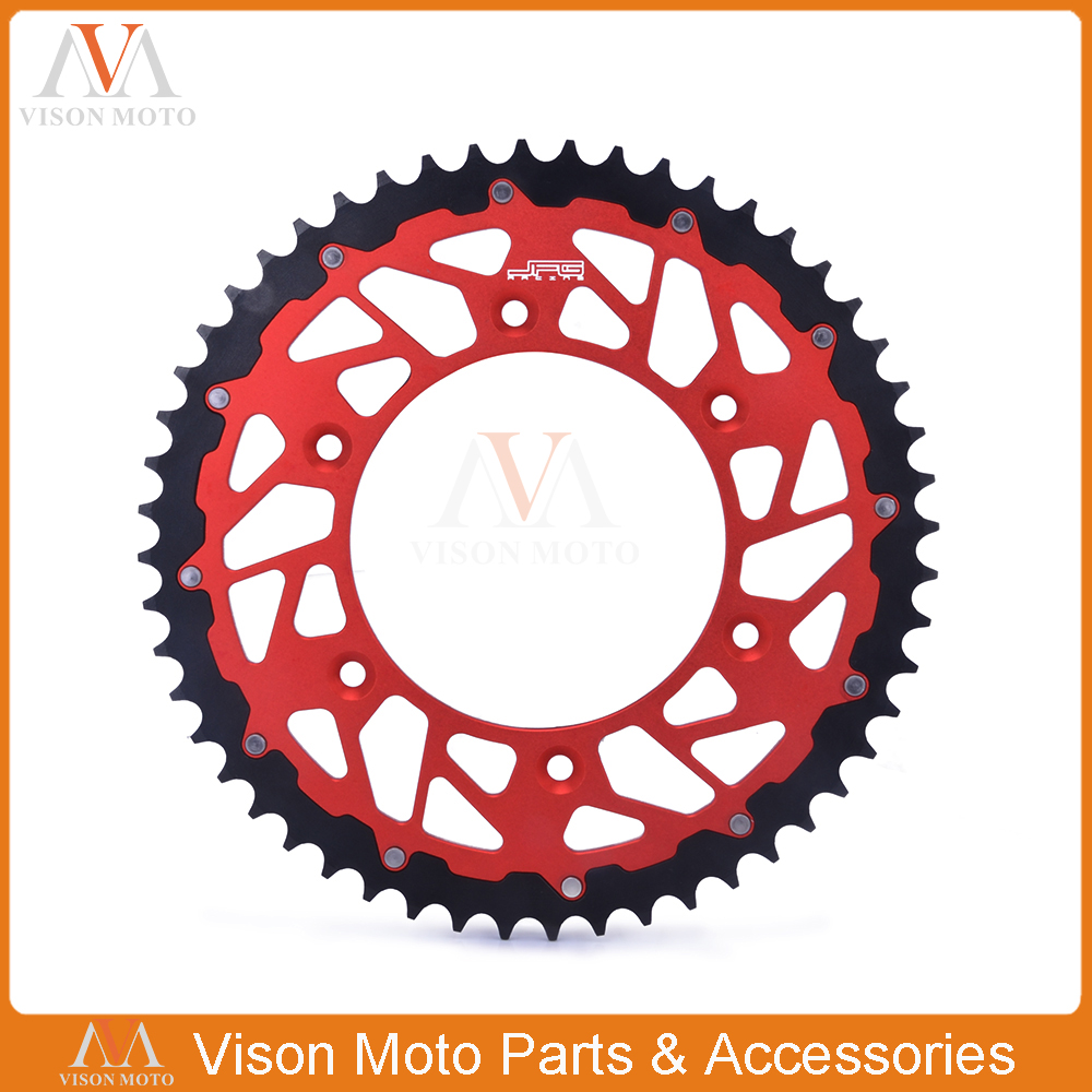 45T 47T <font><b>48T</b></font> 49T 50T 51T 52T Rear Chain <font><b>Sprocket</b></font> Steel and Aluminum For CR125R CR250R CRF230F CRF250R CRF450R Dirt Bike Motocross image