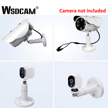 360 Degree Metal Camera Support Wall Mount Rotating Ceiling Bracket Stand Holder For CCTV Surveillance Security Camera White