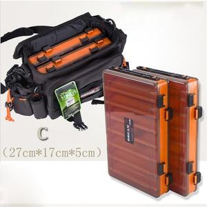 Image 5 - Portátil dupla face caixas de equipamento de pesca multifunções 14 compartimentos iscas de pesca recipiente caixa acessórios da engrenagem de pesca