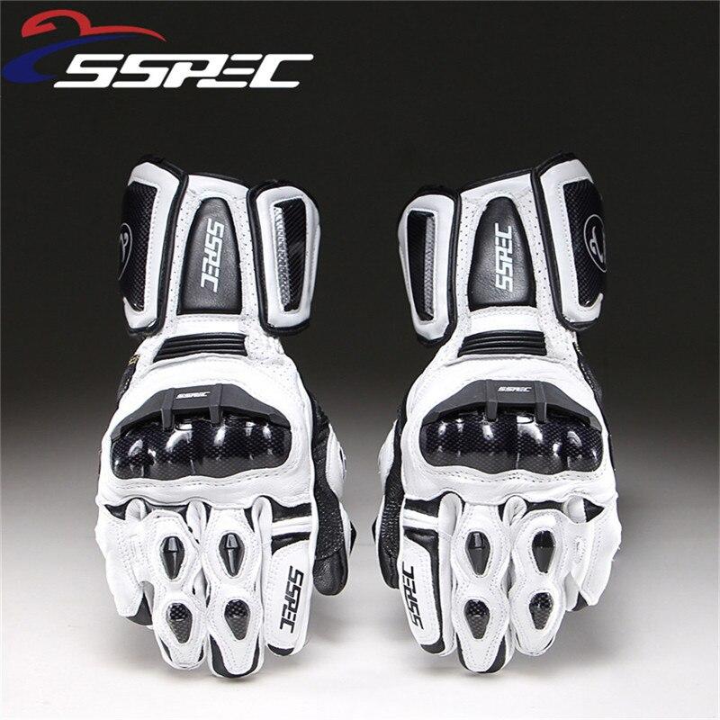 2018 Motorcycle Gloves Leather Carbon Fiber Winter Warm Motorcycle Waterproof Racing Gloves Motocross Luvas Moto Guantes Gants