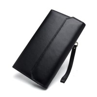Genuine Leather Men Wallets Card Holders Fashion Long Male Clutch Bags Coin Purse Zipper Portomonee Carteira Hombre Perse