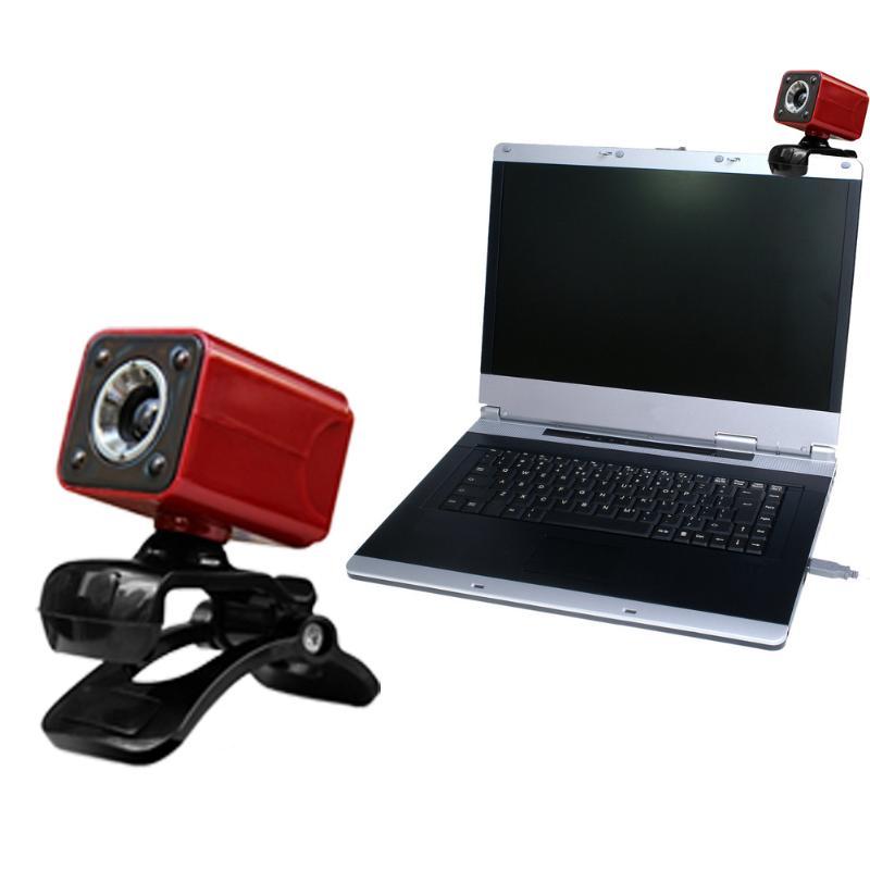 100% De Qualité Usb 2.0 Full Hd 480 P 12 M Pixel 4 Led Ordinateur Webcam Web Cam Caméra Micro Pour Pc Ordinateur Portable Noir Ordinateur Périphériques Webcams