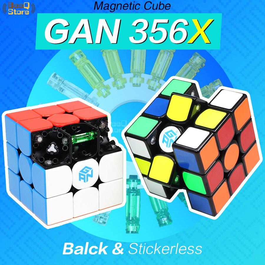 GAN356 X Magnétique Cube 3x3x3 Magic Cube Vitesse Gan356X 356X Gan Cube 3*3 Aimant professionnel Cubo Magico 3x3 Jouets Pour Enfants