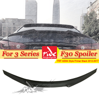 F30 AEM4 Styling FRP Primer Black Rear Wing Trunk Spoiler for F30 F35 3 Series 320i 323i 328i 328d 330i Sedan & F35 M3 2012 2017