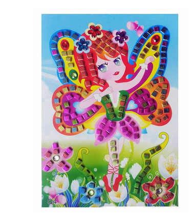 3D Кристалл акриловая головоломка DIY Мозаики пены наклейки эва ручной работы арт мультфильм творческие обучающие игрушки для детей можно выбрать