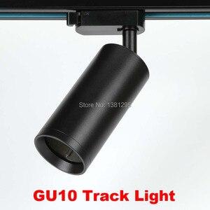 Image 4 - Luces de pared LED montadas en Superficie moderna GU10, foco de techo, accesorio de Tracklight, lámpara de pared interior, foco de imagen para habitación del hogar