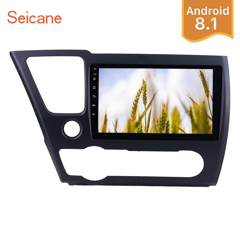 Seicane 9Android 8.1/8.0 1Din Car Radio For 2014 2015 2016 2017 Honda Civic Touchscreen GPS Navi Multimedia Player Head Unit