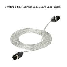 Câble d'extension MIDI convertisseur 3 mètres/10ft prise 5 broches mâle à mâle adaptateur de connecteur pour appareils MIDI