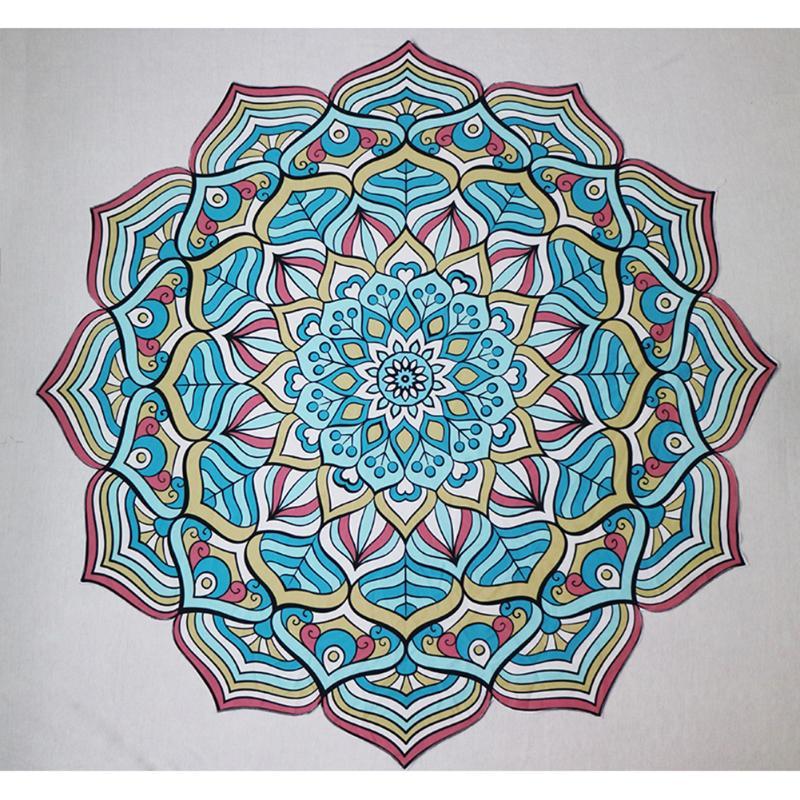 ✔  Летние пляжные полотенца с цветочным принтом Круглое одеяло Коврик для йоги Типпет 5 ✔