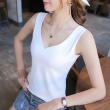 Summer Sexy Tank Top Camis Women Casual  V-Neck Sleeveless Solid Color Vest Tops T-Shirt все цены