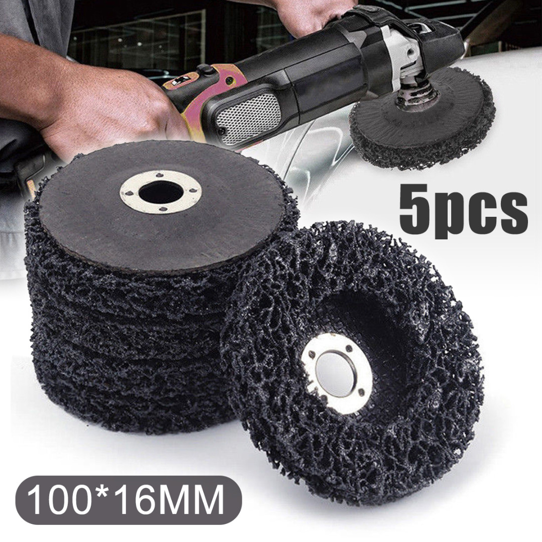 5pcs Poly Strip Disc Wheel Car Paint Rust Removal Clean Angle Grinder Abrasive Disc 100*16mm For Angle Grinders