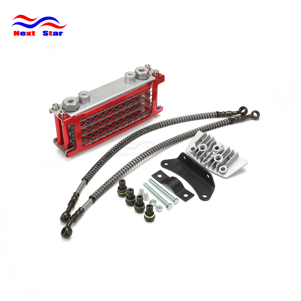 Motorcycle Oil Cooling Cooler Radiator For Loncin ZongShen <font><b>Lifan</b></font> Shineray Yinxiang 50CC 70CC 90CC <font><b>110CC</b></font> Horizontal image