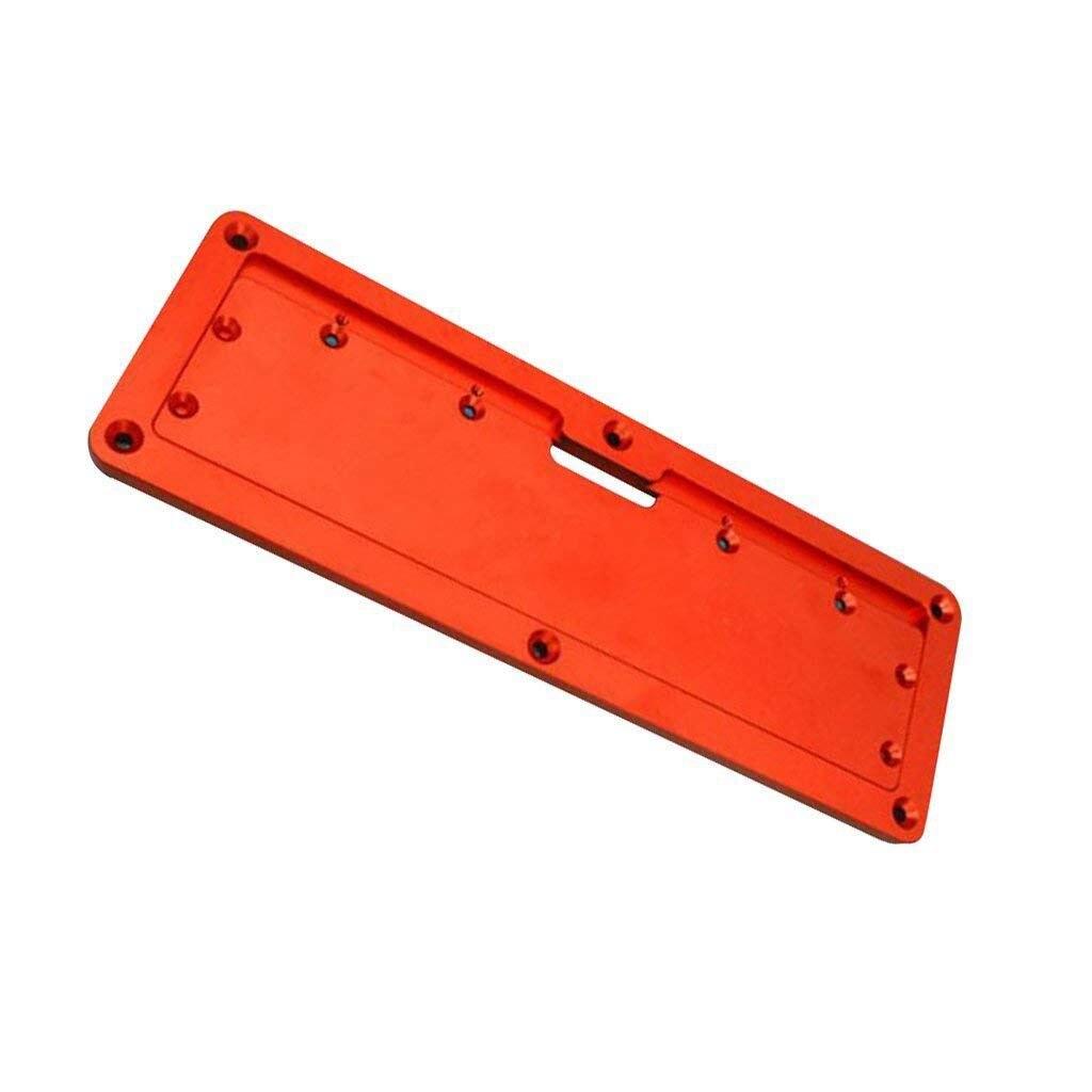 Aluminum Circular Saw Throat Plate Flip DIY Woodworking Table Cover Plate Table Saw Throat Plate