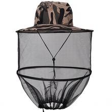 LanLan Открытый Складная сетка маска на голову защитный Кепки для Пчеловодство уничтожитель комаров