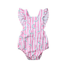 Children Pink Princess Bodysuit Baby Girl Clothes Bodysuit Jumpsuit Outfits Sunsuit 0-18M 2019 Summer Kids Girl Clothes(China)