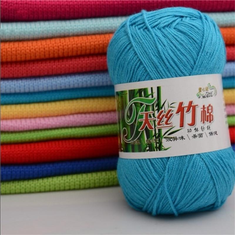 1 Pc = 50g Natürliche Weiche Bambus Häkeln Stricken Garn Baumwolle Garn Hohe Qualität Baby Wolle Garn Für Hand Stricken Pullover