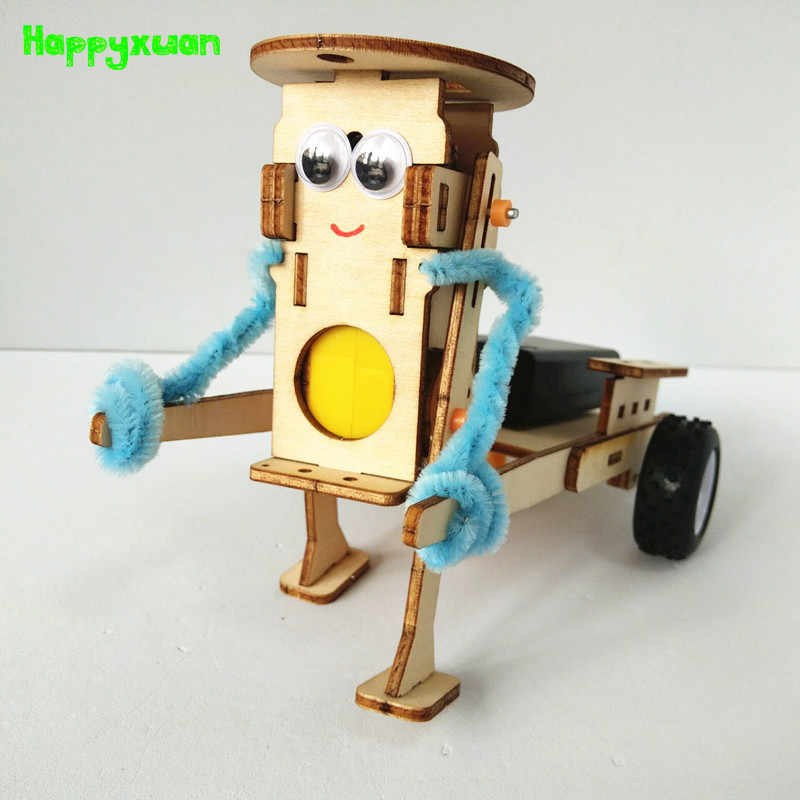 Happyxuan bricolage technologie Gadgets tirant Robot ensemble de Construction enfants Science expérience éducation amusement physique jouet Kits d'apprentissage