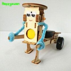 Happyxuan DIY Aparelhos de Tecnologia Puxando Conjunto Robô de Construção Crianças Brinquedo Diversão Educação Física Experimento Científico Kits de Aprendizagem