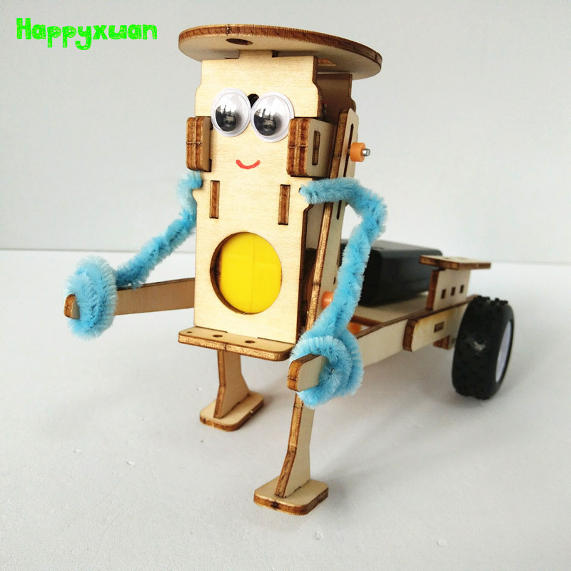 Happyxuan DIY Technology Gadgets Pulling Robot Construction Set Kids Science Experiment Education Fun Physics Toy Learning Kits