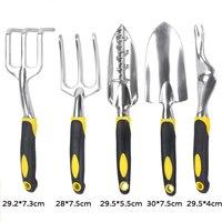 ANENG 6 Piece Garden Tool Set Gardening Tool Kit Heavy Duty Cast Aluminum Heads Ergonomic Handles