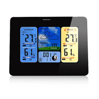 Wireless Digital Weather Station Clock Colorful LCD Screen Temperature Humidity Sensor Weather Forecast For Home In/outdoor