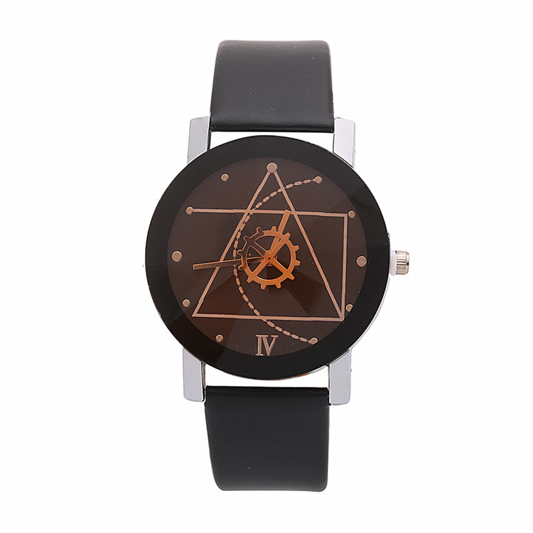 Luxury Watch Geometric Gear Leather Watch