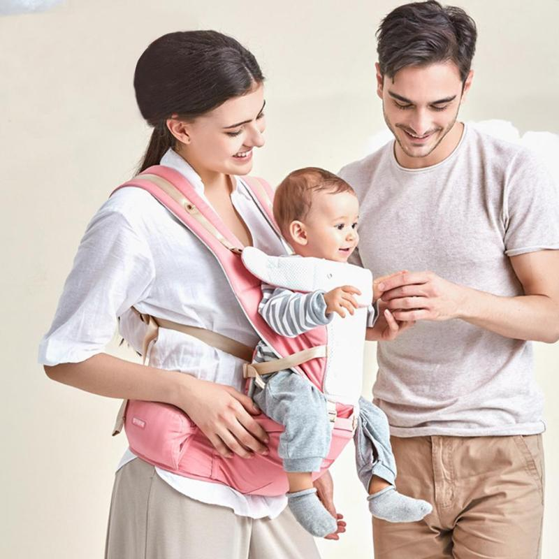 Ergonomic Baby Carrier Infant Baby Hipseat Carrier Front Facing Ergonomic Kangaroo Baby Wrap Sling for Baby Travel 0-36M Care
