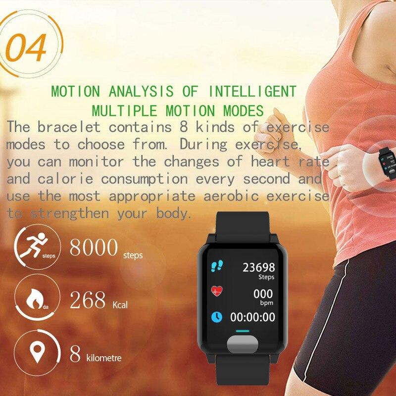 Pulsera inteligente Chycet ECG PPG reloj de medición de presión arterial para mujer Monitor de ritmo cardíaco banda de Fitness con rastreador de actividad - 4