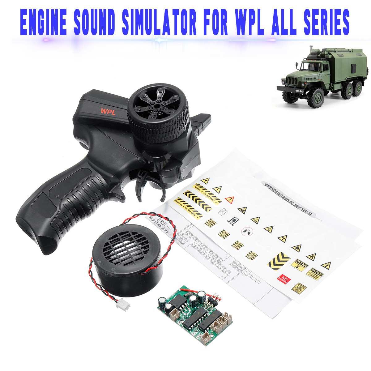 Pour tous les modèles de voiture télécommandés de WPL KIT Version série RC voiture moteur son simulateur 4 canaux pièces télécommande