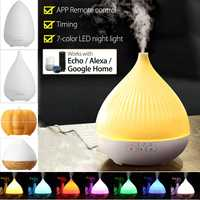 Multicolor 280ml Portable Air Humidifier Aroma Lamp WiFi Smart Ultrasonic Essential Oil Diffuser Works with Alexa Google Home