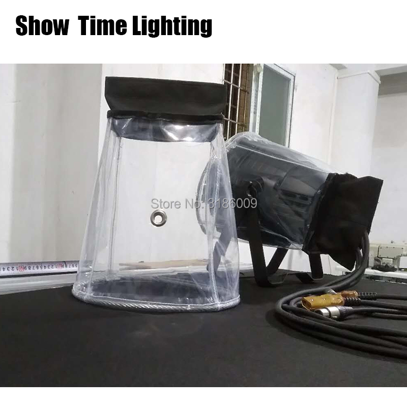 Hot sales 10pcs/lot LED PAR Rain Cover Stage Light compact Rain Coat Waterproof Covers use in the rain or snow crystal