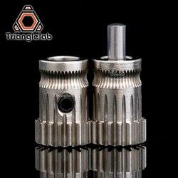 Trianglelab drivegear kit dupla unidade extrusora de engrenagem mini bowden extrusora clonada atualização do be para prusa i3 3d engrenagem da impressora