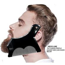 BellyLady Beard Comb Mutifunctional Beard Shaping Tools Beard Grooming Shaper Lineup Template bellylady male beard care set beard brush beard comb beard oil beard cream scissors grooming
